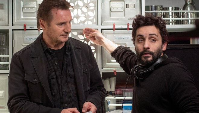 "Liam Neeson and Jaume Collet-Serra together again in the frantic action thriller ""The Commuter"""