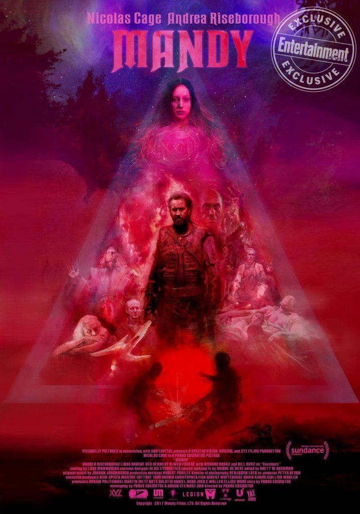 "Poster for Panos Cosmatos' ""Mandy"", starring Nicolas Cage"