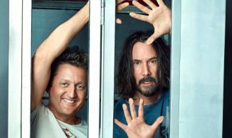 """Bill & Ted Face the Music"". Bill & Ted face the middle age decadence"