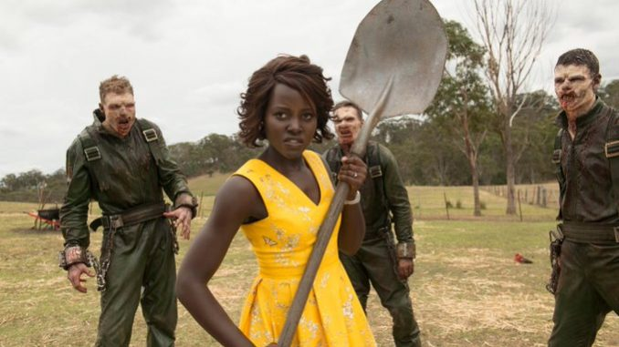 "Lupita Nyong'o vs zombies in the trailer for ""Little Monsters"""