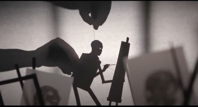 "Watch the ""Candyman"" shadow puppetry promotional short film/trailer"