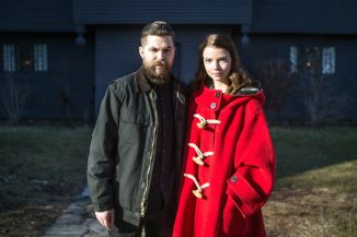 """Robert Eggers and his amazing cast for his Viking revenge film """"The Northman"""""""