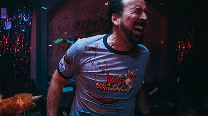 """Nicolas Cage's horror-comedy """"Willy's Wonderland"""" will be out on DVD this April"""